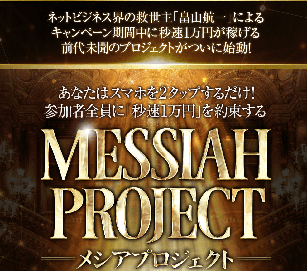 畠山航一 メシアプロジェクト